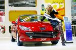 Peugeot übergibt 307 CC HDi FAP 135 in Leipzig an Miss Deutschland