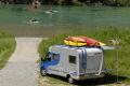 Amphibien-Mobil auf dem Caravan-Salon