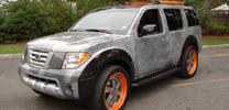 Nissan Pathfinder als Graffiti-Kunstwerk