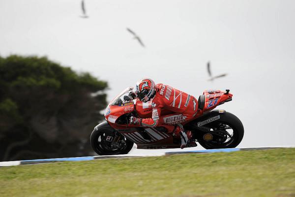 Rennen MotoGP: Stoner holt den Heimsieg