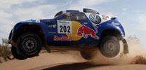 Volkswagen mit zwei Race Touareg in Dubai