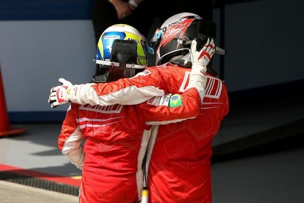 Räikkönen und Massa: Zwei glückliche Ferraristi