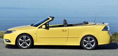 Saab 9-3 Cabrio: Sonnengelb in den Winter