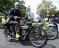 Vorkriegsmotorräder in Aktion