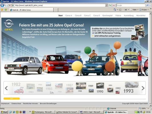 Opel gibt online Infos zum Corsa