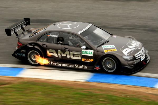 Ralf Schumacher fährt für Mercedes: Auf den Hosenboden setzen
