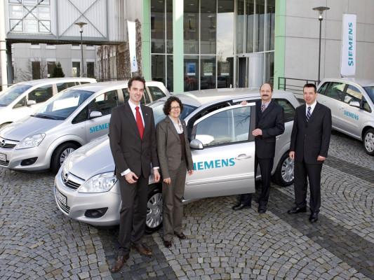 Siemens übernimmt 50 Opel Zafira CNG