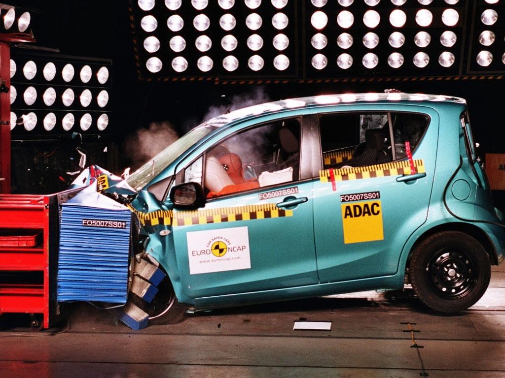 Vier Sterne für den Suzuki Splash im Crashtest