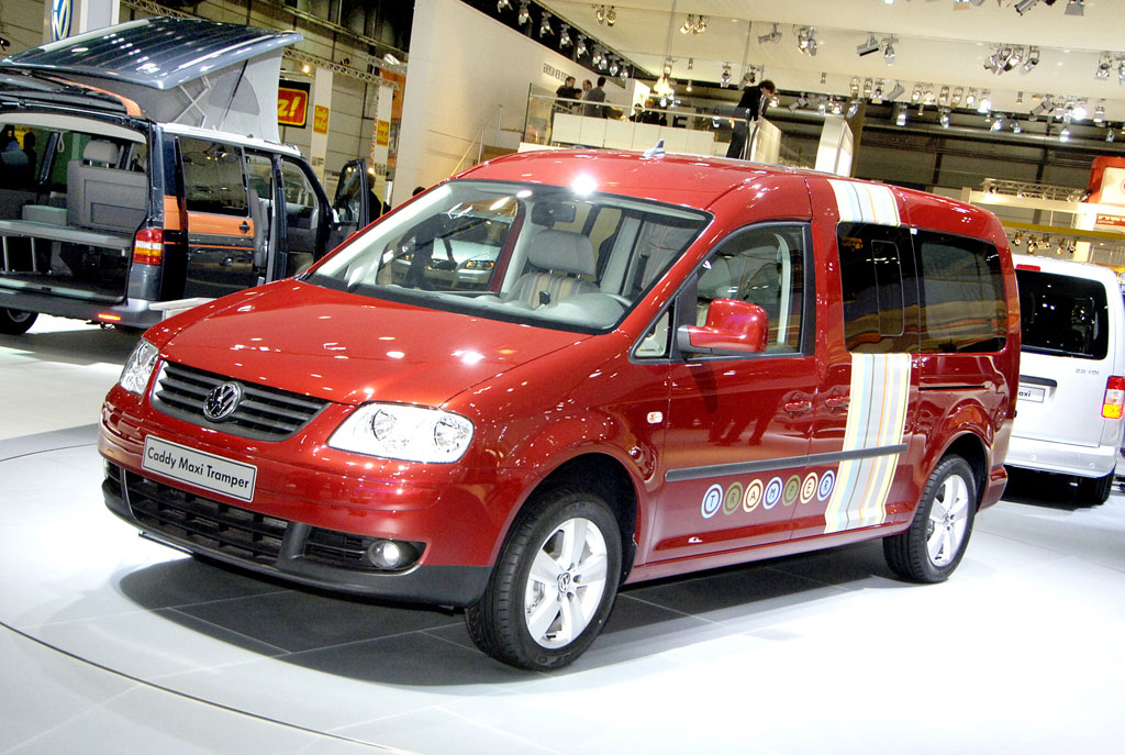Volkswagen Nutzfahrzeuge zeigt den Caddy Maxi Tramper