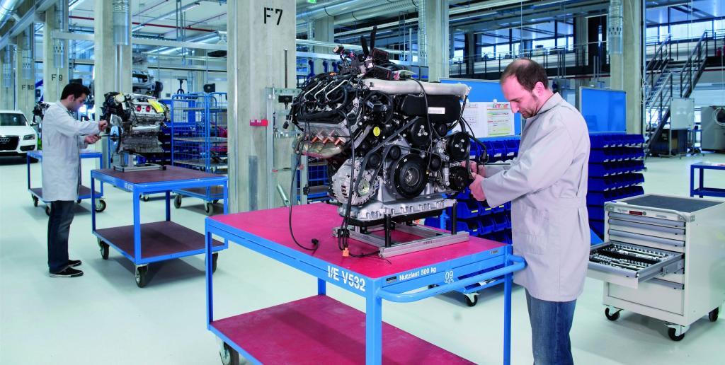 Audi-Vorseriencenter vernetzt Produktion und Technische Entwicklung