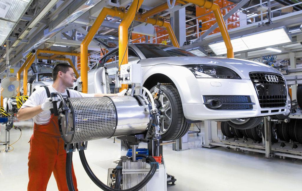 Audi-Werk in Györ mit Produktionsjubiläum