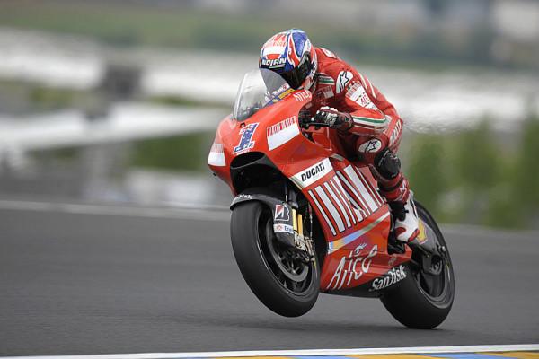 Ducati ermutigt und verwirrt: Starker Stoner und eigenartige Reifen