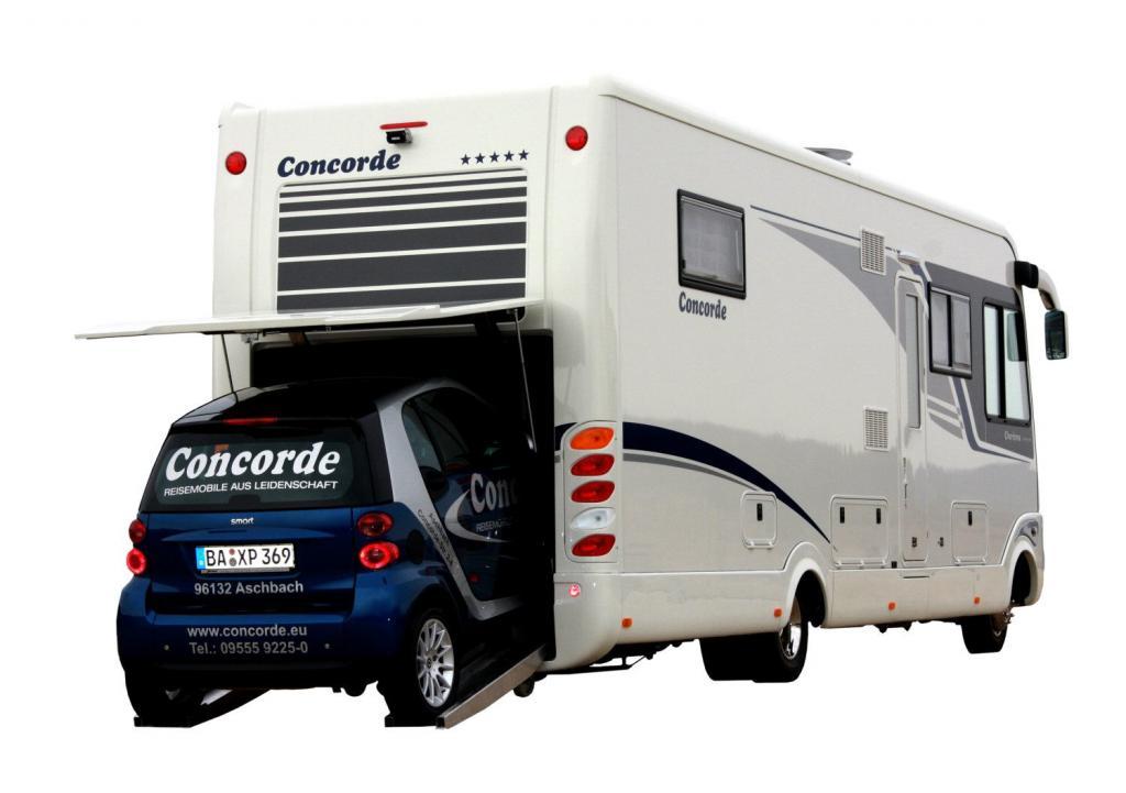 Neues Reisemobil mit Kleinwagen-Garage