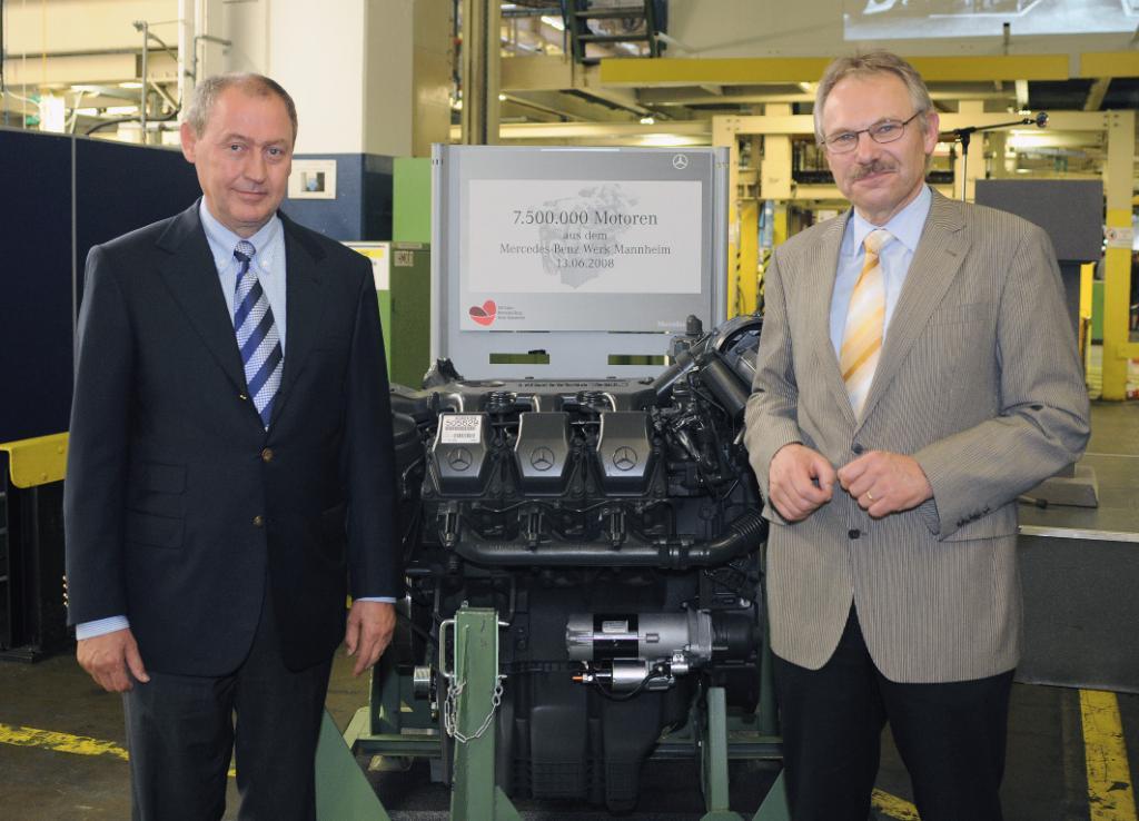 7,5-millionster Mercedes-Benz-Motor aus Mannheim