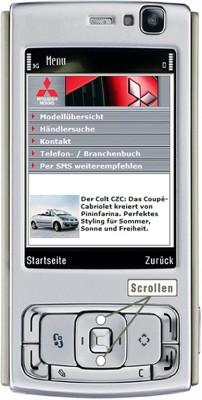 Neue Mitsubishi-Seite mobil abrufbar