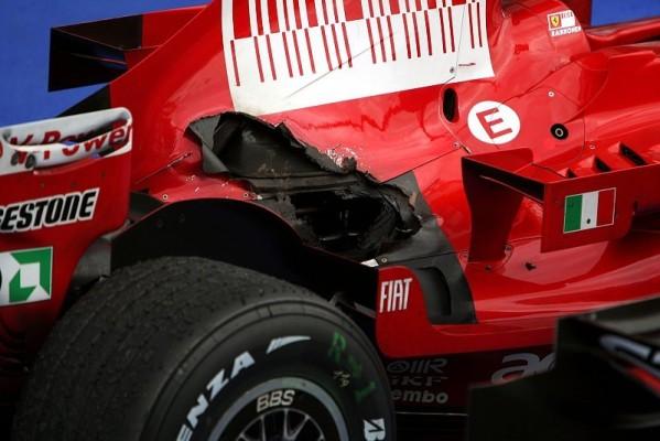 Wie gefährlich war Räikkönens Flatterauspuff?: Risiko gering