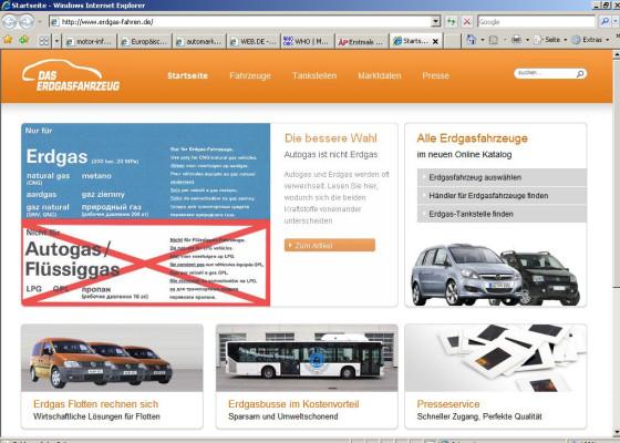 Neues Portal informiert über Erdgasfahrzeuge