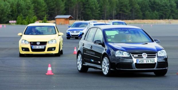 Volkswagen lädt Fußballer zum Fahrsicherheitstraining ein