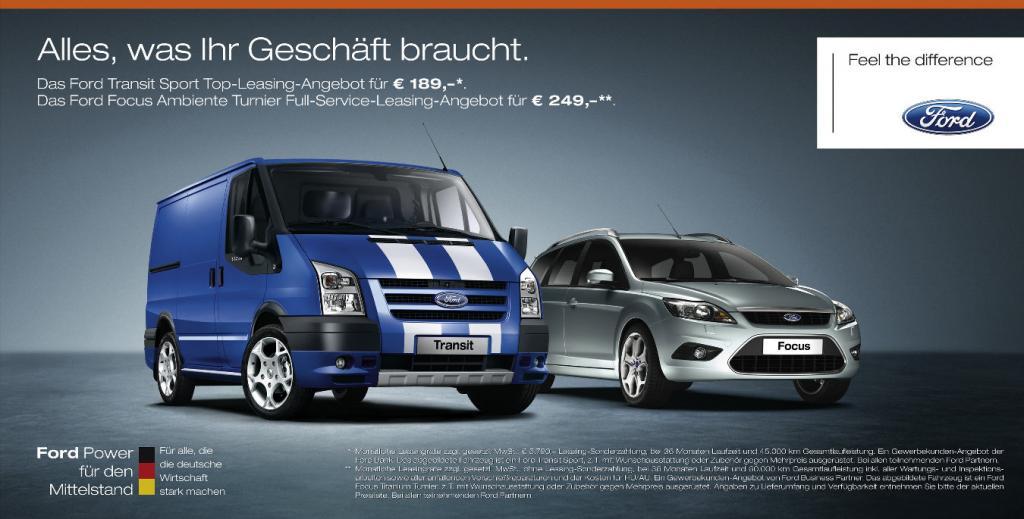 Gewerbewochen bei Ford mit speziellen Angeboten