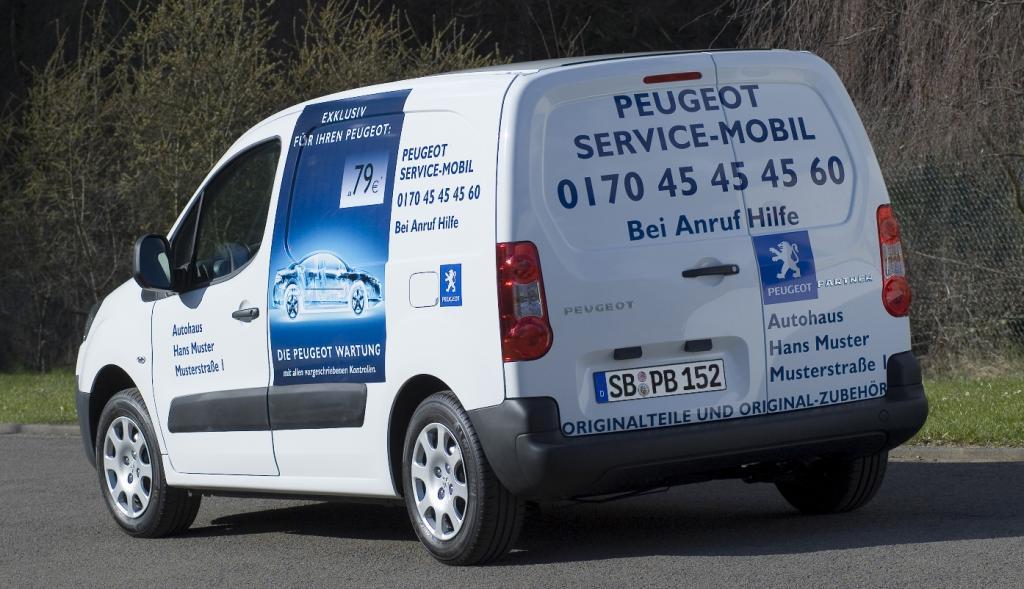 Peugeot Partner Kastenwagen als ''Service Edition''