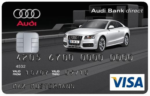 VISA Card mit Audi-Motiven
