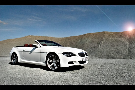 Weiße Raubkatze : BMW M6 Cabriolet