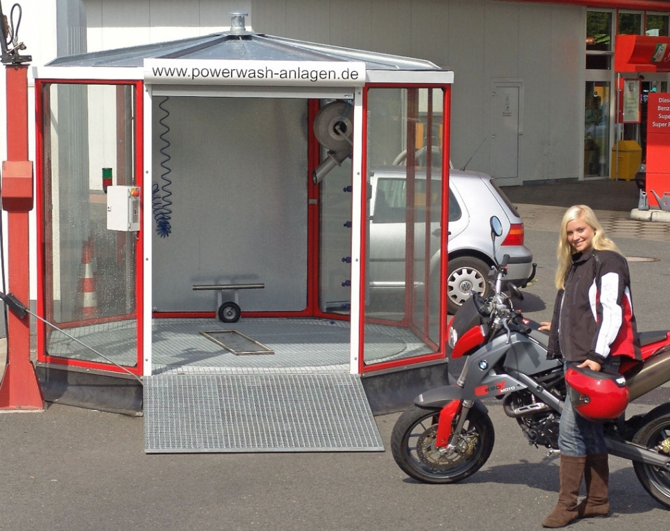 Waschanlage für Motorräder
