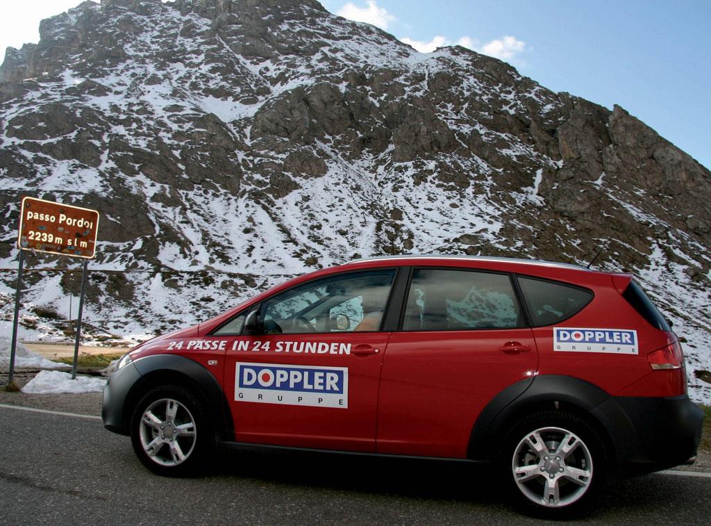 Seat Altea Freetrack bezwingt die Alpen