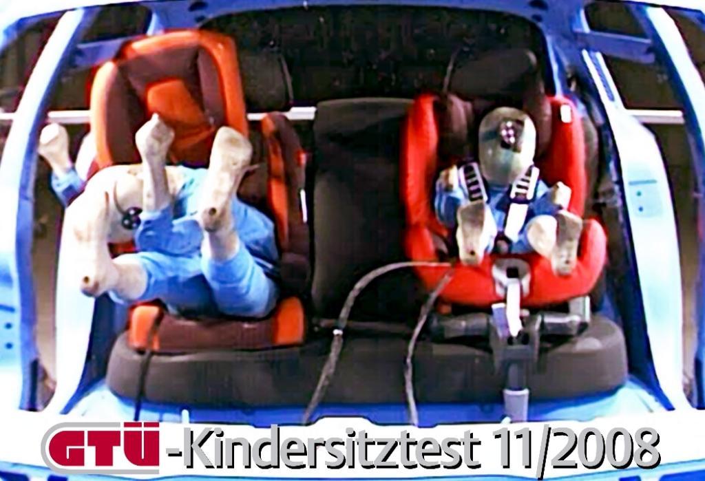 GTÜ testet Kindersitze