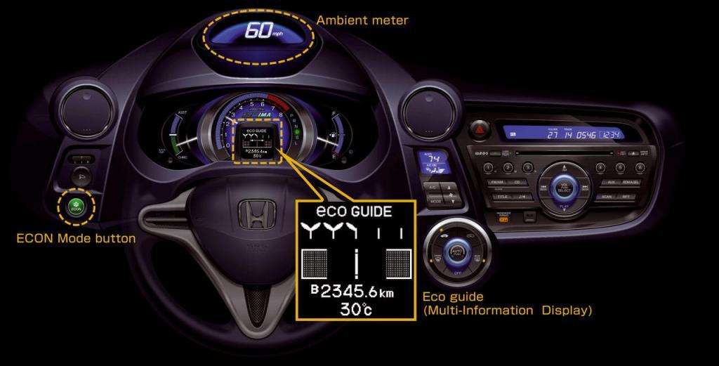 Honda Insight mit ''Eco-Trainer''