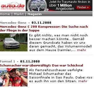 Immer und überall - www.auto.de wird mobil!