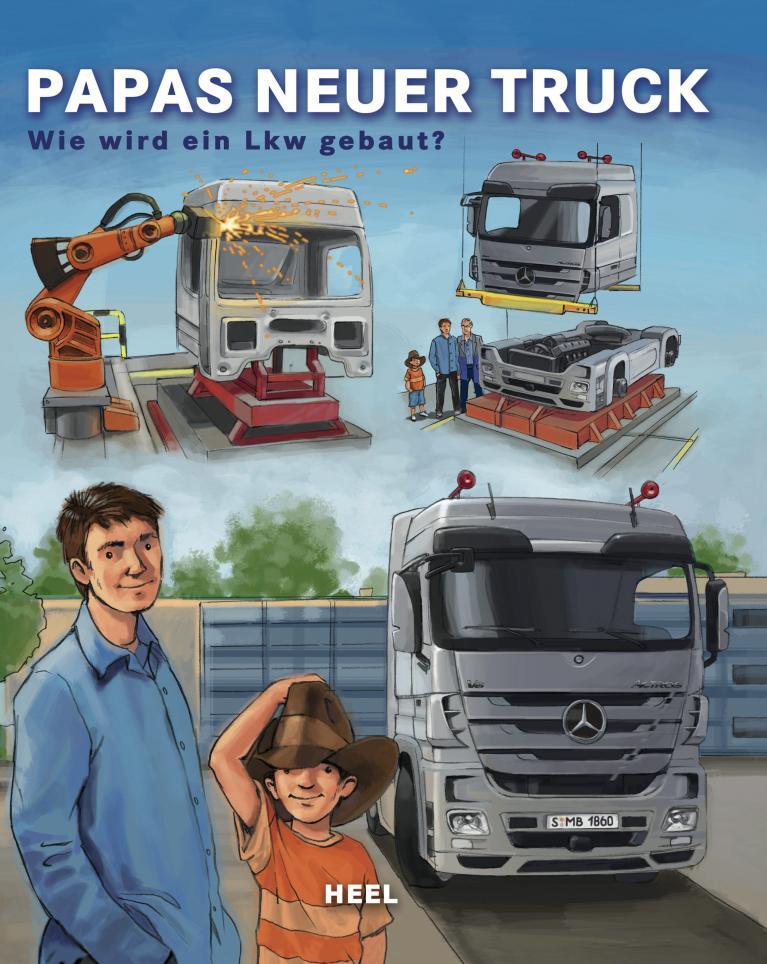 Kinderbuch erklärt Lkw-Herstellung von Mercedes-Benz