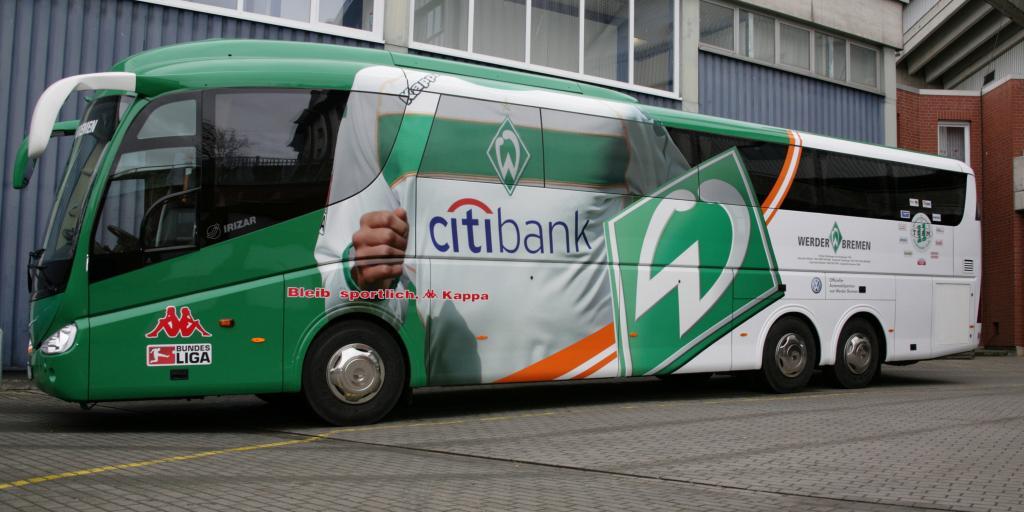 Neuer Mannschaftsbus für Werder Bremen