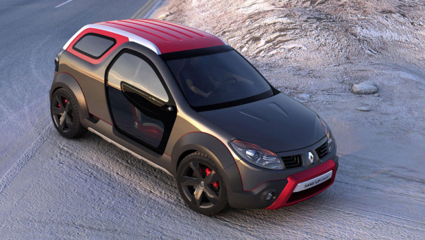 Renault Sand'up Concept: Alles in Einem - Coupé, Cabrio und Pick Up