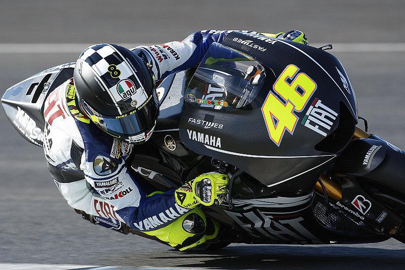 Rossi beendet das Jahr mit Bestzeit: Nachmittags-Arbeit