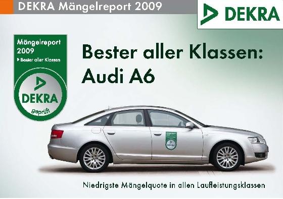 """Dekra-Mängelreport: Audi A6 ist """"Bester aller Klassen"""""""