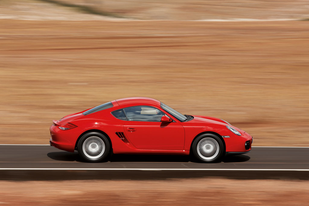 Vorstellung Porsche Cayman: Abstand gewahrt