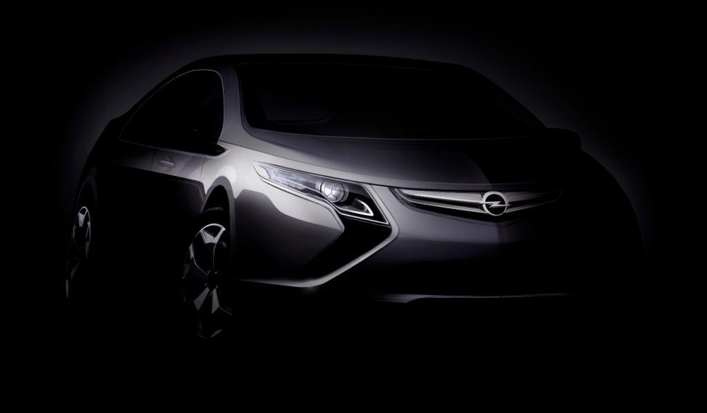 Opel präsentiert Elektroauto Ampera in Genf