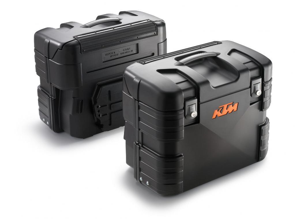 Motorrad-Zubehör: KTM-Koffer-Set jetzt auch in Schwarz
