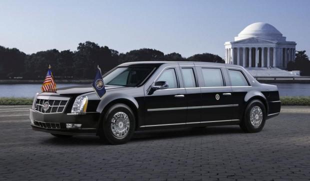 Präsidenten-Cadillac auf Lkw-Reifen