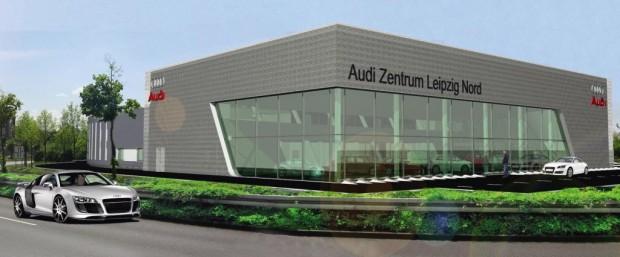 Erster Spatenstich für Audi-Terminal in Leipzig