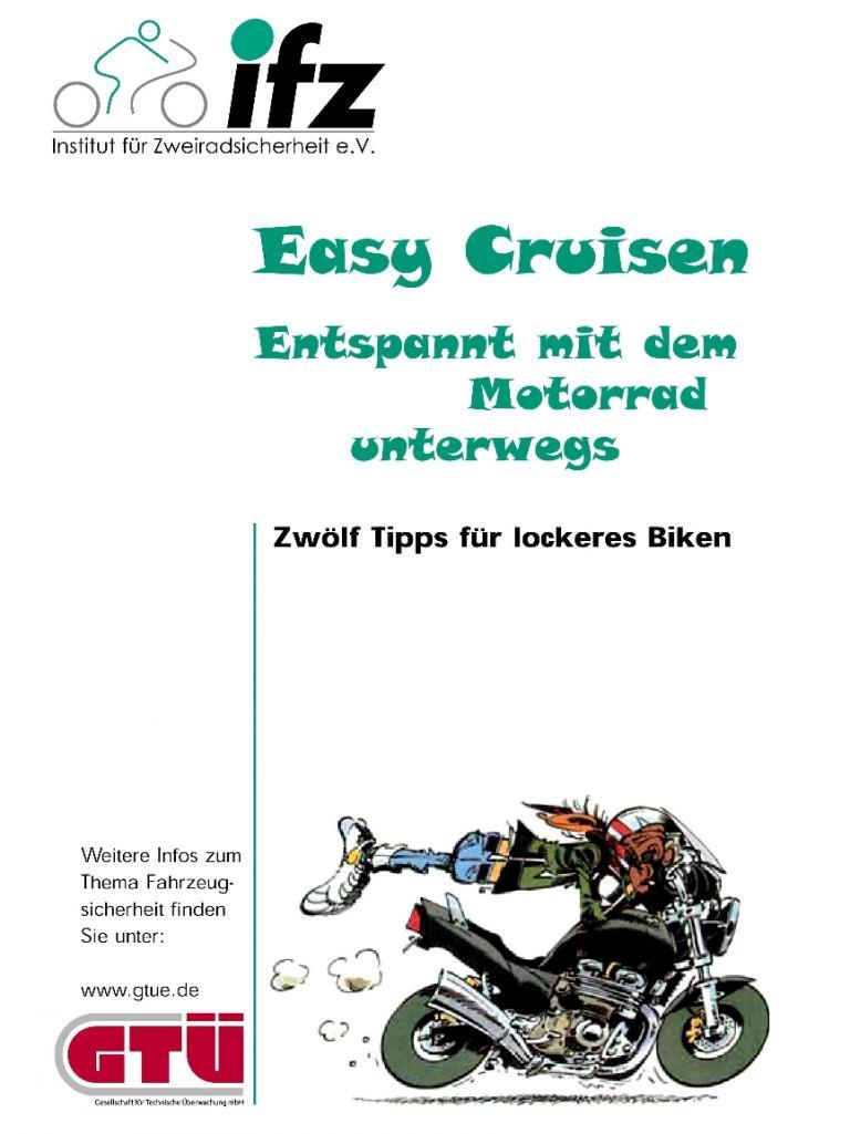 Kostenlose Broschüre für sicheres Motorradfahren