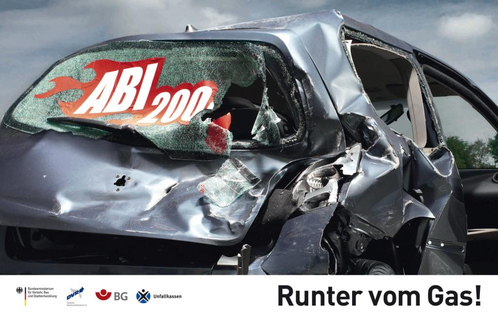 Neue Plakat-Serie bei ''Runter vom Gas''