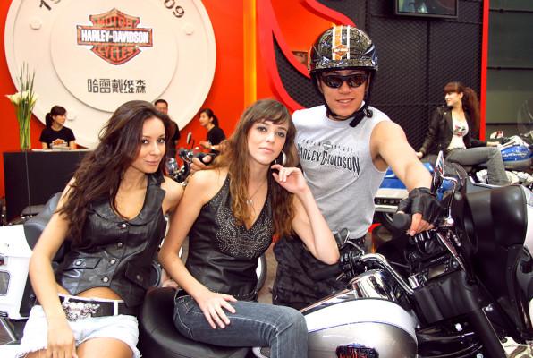 AShanghai 2009: Auch Harley wirbt um neue Fans