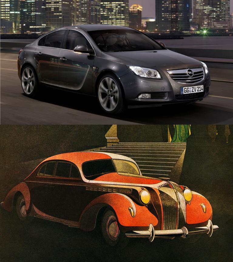 Ausstellung von Opel-Werbegrafiken Bernd Reuters aus der 30er Jahren