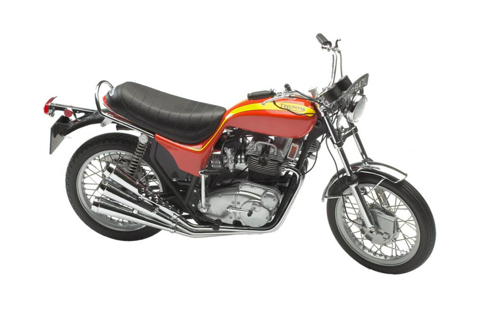 Motorräder in Miniatur von Triumph