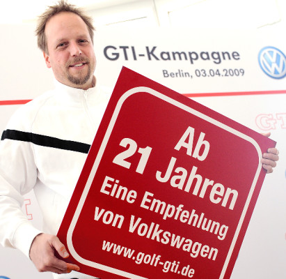 Volkswagen GTI-Kampagne: ''Erst Fahrsicherheitstraining, dann GTI fahren''