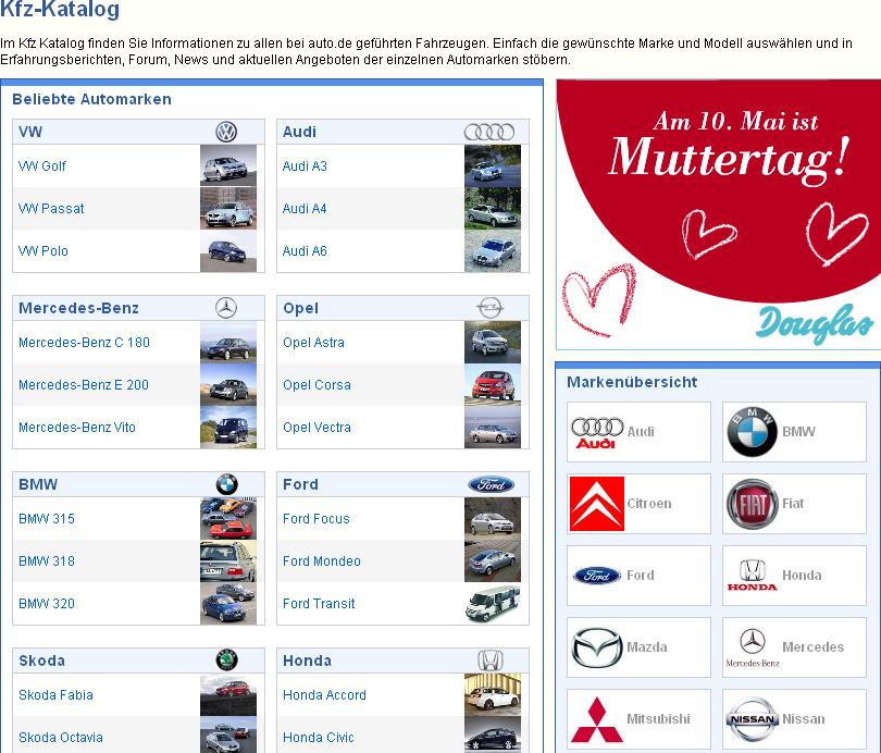 Für jeden das richtige Auto: KFZ-Katalog bietet Markenüberblick und Raum für Kundenmeinungen