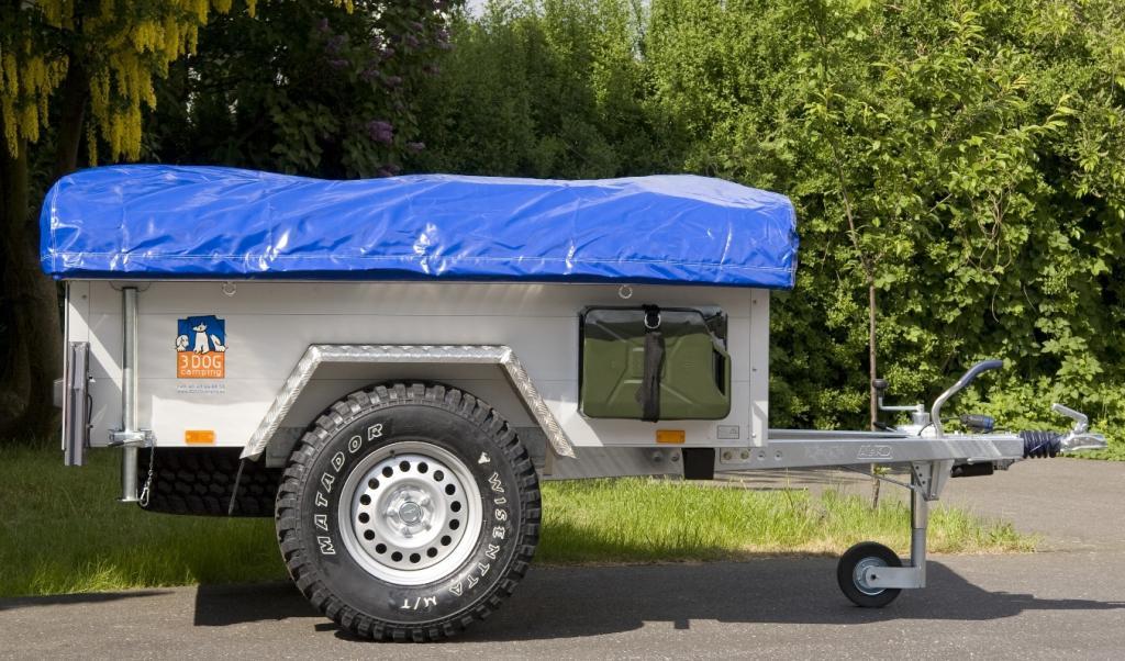 Geländegängiger Zelt-Anhänger von 3Dog Camping ist serienreif