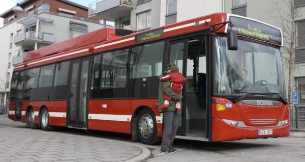 Scania stellt Ethanol-Hybridbus in Wien vor